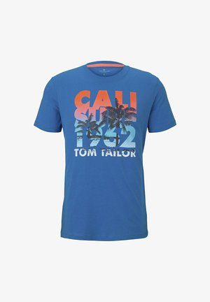 TEE WITH COLOR PRINT - T-shirt print - brilliant middle blue