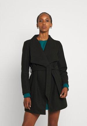 VICOOLEY COLLAR BELT COAT - Short coat - black