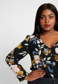 Glamorous Curve - ORIENTAL FLORAL WRAP BODYSUIT - Bluser - multi-coloured - 3
