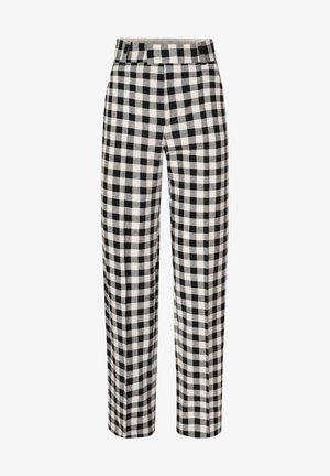 Trousers - black/ecru