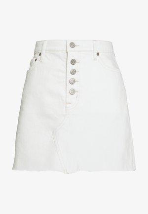 MINI A LINE SKIRT - Mini skirt - ecru