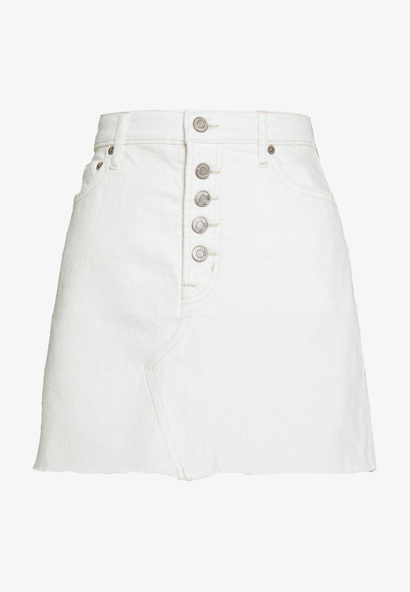 GAP - MINI A LINE SKIRT - Mini skirt - ecru