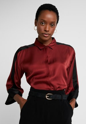 Button-down blouse - russet brown