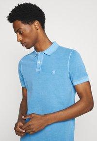Marc O'Polo - SHORT SLEEVE BUTTON PLACKET COLLAR AND CUFF - Polo shirt - azure blue - 3