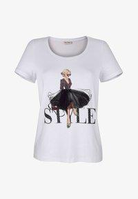 Print T-shirt - weiß,schwarz,rot