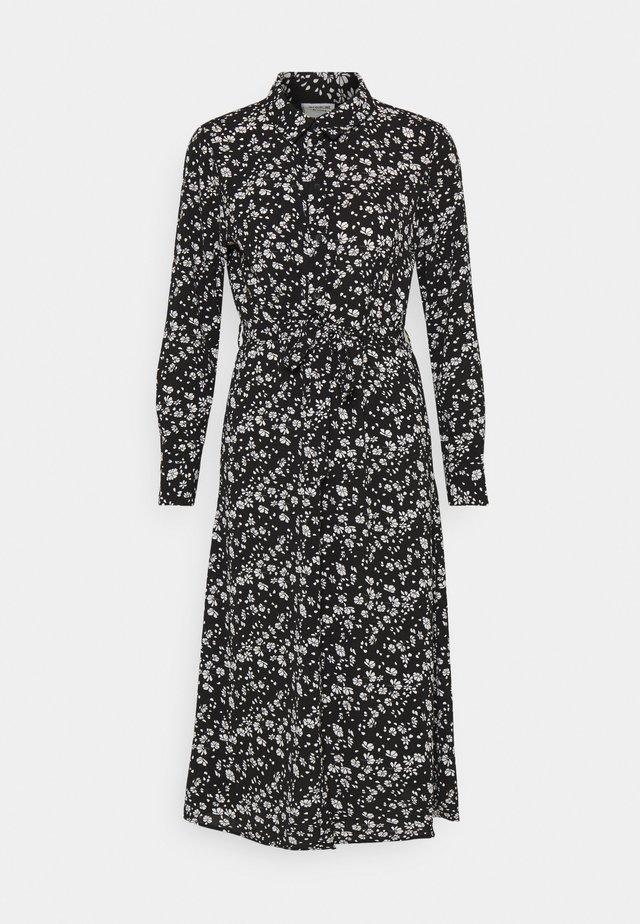 JDYPIPER ABOVE CALF DRESS - Shirt dress - black/white