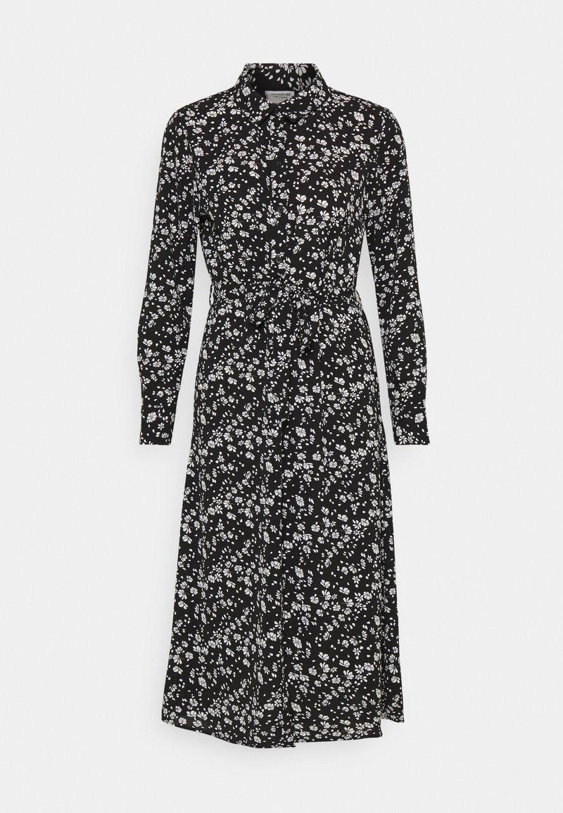 JDY - JDYPIPER ABOVE CALF DRESS - Skjortekjole - black/white