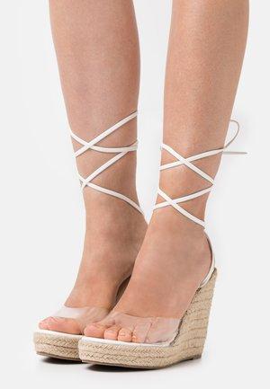 SAFIYA - Platform sandals - clear