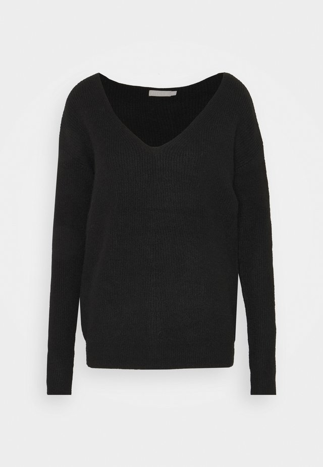 PCBABETT NECK  - Strickpullover - black