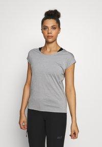 Salomon - COMET TEE  - T-shirts - lunar rock/white/heather - 0