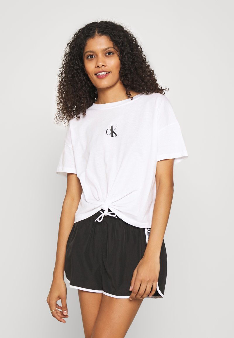 Calvin Klein Swimwear - CORE LOGO TAPE - Bikini bottoms - black