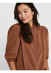ONLY - Button-down blouse - tobacco brown - 4