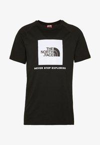 RAGLAN TEE  - T-shirt z nadrukiem - black/white