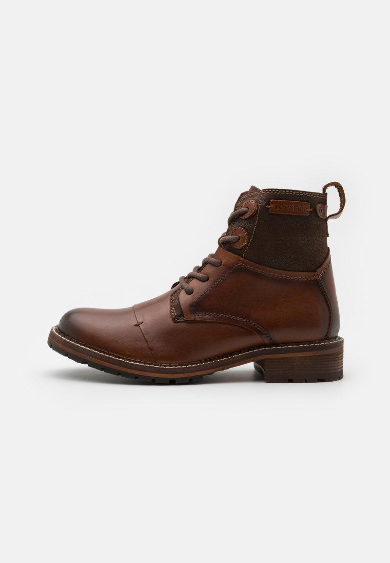 Dockers by Gerli - Šněrovací kotníkové boty - braun