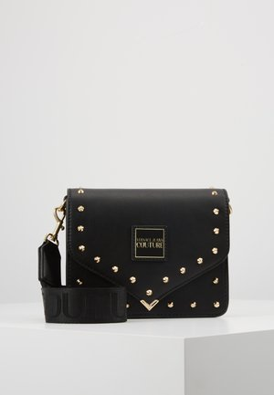 STUDDED FLAP OVER - Torba na ramię - black