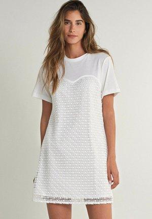 GARDENA STRAIGHT - Day dress - weiß