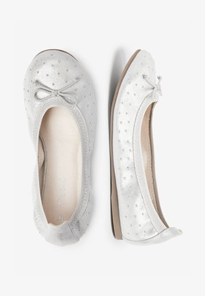 PINK STUDDED FLEXI BALLET SHOES (OLDER) - Ballerina's - silver