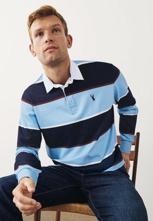 LONG SLEEVE RUGBY SHIRT - Polo shirt - blue