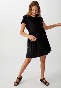 Cotton On Curve - TINA BABYDOLL  - Jersey dress - black - 1