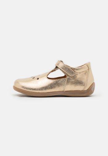 GIGI - Ankle strap ballet pumps - gold