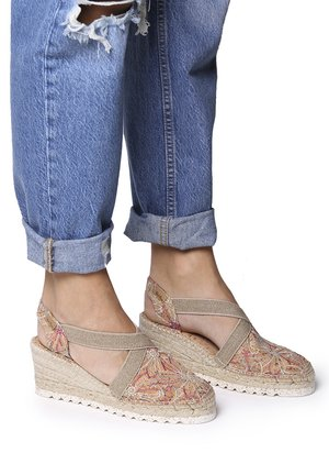 TERRA - Wedge sandals - multi