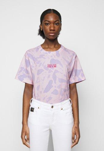 T-shirt imprimé - blue bell/pink confetti