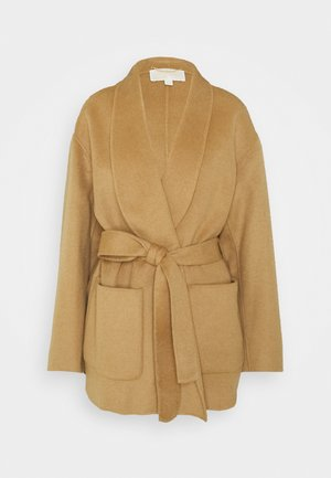 SHAWL COAT - Cappotto corto - dark camel