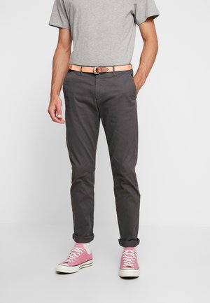 STRETCH STUART WITH BELT - Bukser - grey