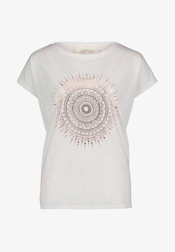 Print T-shirt - white gold