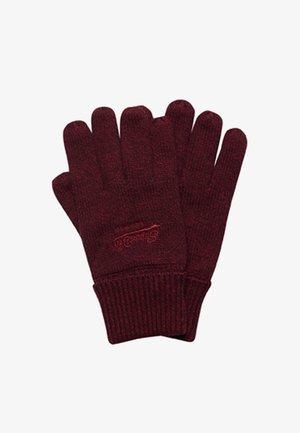 VINTAGE LOGO CLASSIC - Gloves - dark red grit
