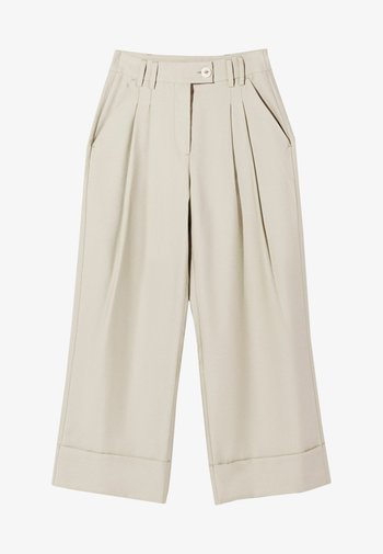 Spodnie materiałowe - camel