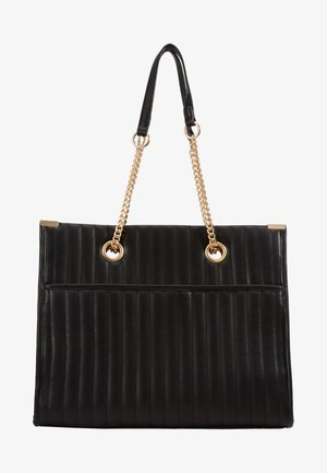 HUGO QUILTED TOTE - Shopping bags - black