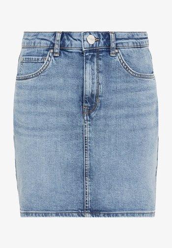 Pencil skirt - light blue denim