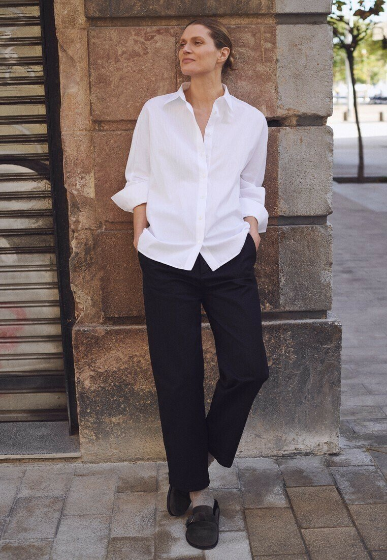 Massimo Dutti - SLIM FIT - Pantalon classique - black