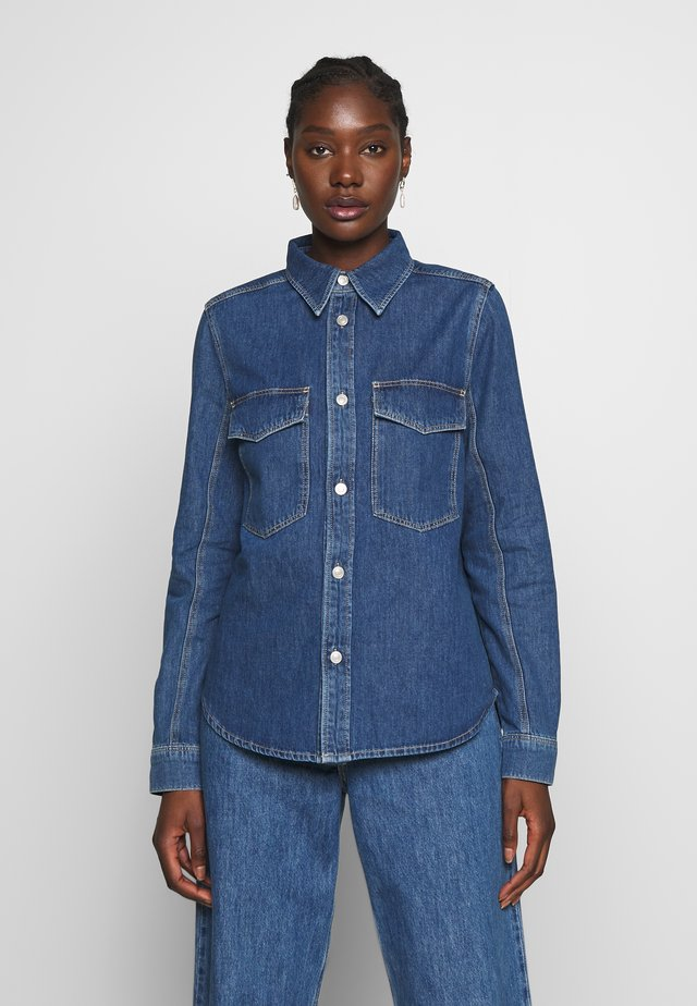 SHIRT KAREN - Button-down blouse - denim blue