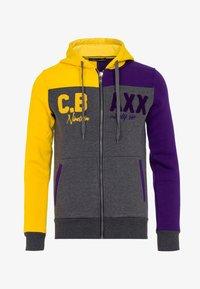 18CRR81 Cerruti - Zip-up hoodie - antraciet-geel - 3