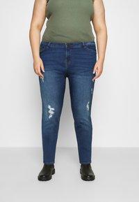 Vero Moda Curve - VMHANNA - Jeans Skinny Fit - medium blue denim - 0
