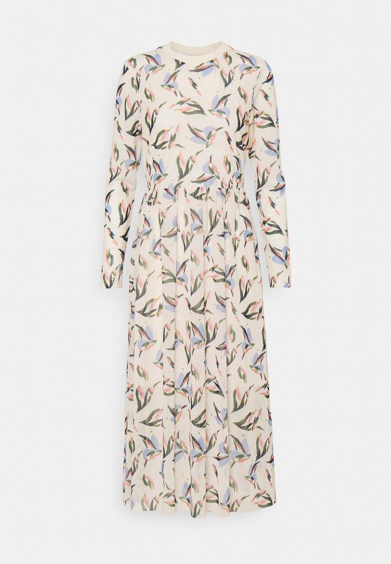 TOM TAILOR DENIM - PRINTED DRESS - Maxi dress - cream