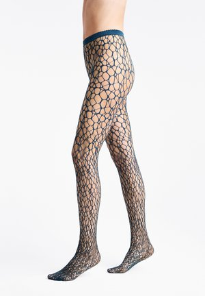 MICRO FISH SCALE  - Tights - deep ocean