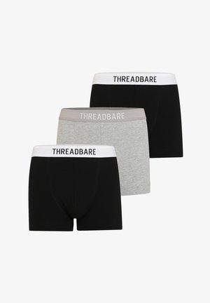 3PACK - Pants - schwarz