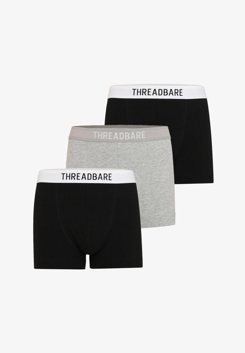 Threadbare - 3PACK - Onderbroeken - schwarz