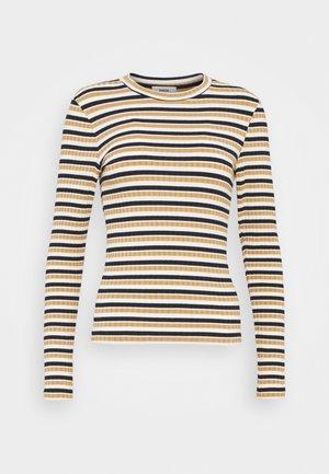 STRIPE - Long sleeved top - navy/beige/ecru