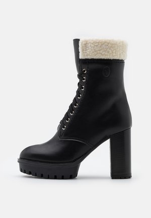 PLATFORM BOOT - Kotníková obuv na vysokém podpatku - black