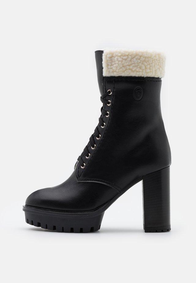 PLATFORM BOOT - High heeled ankle boots - black