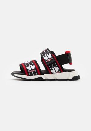 UNISEX - Sandals - black/red