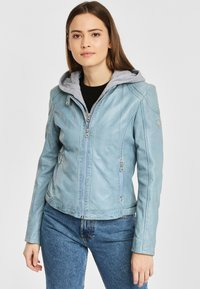 Gipsy - AELLY LAMAS - Leather jacket - light blue - 0