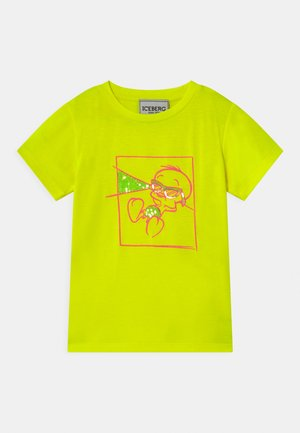 T-shirt con stampa - giallo fluo