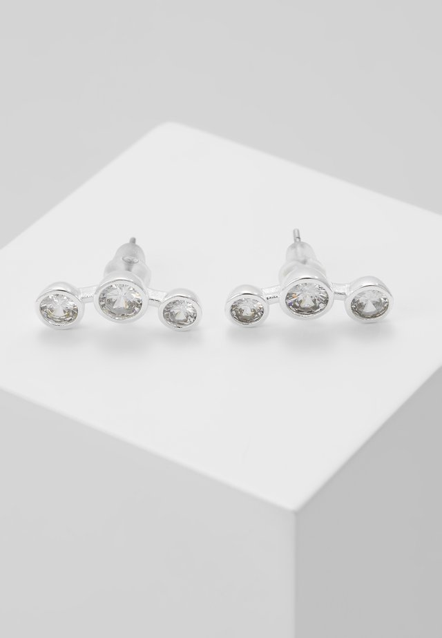GRASS SMALL - Earrings - silver-coloured