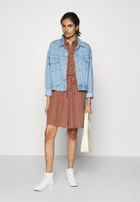 ONLY - ONLTAMARI DRESS - Shirt dress - tortoise shell/cloud dancer - 1