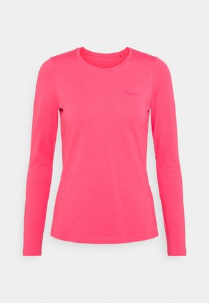 AMBERTA - Long sleeved top - dark chicle
